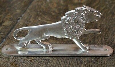 Interesting old bronze brass lion silver plated car mascot
