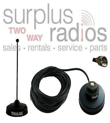 Black Uhf Magnet Mount Antenna Kit Motorola Mobile Cdm1550 M1225 Xpr4350 Pm400