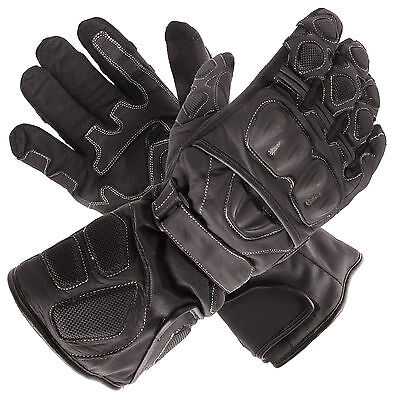 New Polar Force Waterproof Thermal Black Leather Motorcycle Gloves XLarge XL