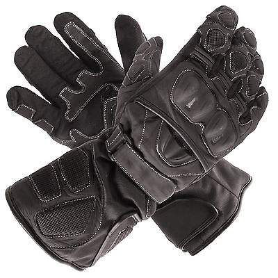 New Polar Force Waterproof Thermal Black Leather Motorcycle Gloves 3XLarge XXXL