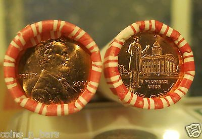 2009-D 1C Lincoln-Professional RED ROLL 50 Lincoln Cent NF STRING BANK BOX