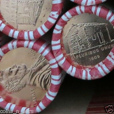 2009 Lincoln Cent Roll LP1 DENVER Mint PENNY ROLL LOG CABIN N.F STRING & SON CO.