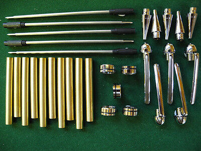 Woodturning EUROPEAN Ball Point Kit in Chrome