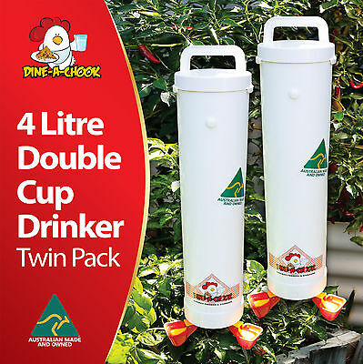 Chicken / Poultry Drinker- Feeder & Waterer Sets Available / Two Drinkers 4 Cups