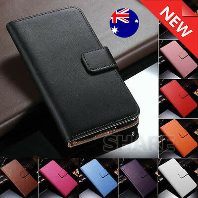 iPhone 5 5S SE Genuine Leather Wallet Flip Cover Case for Apple