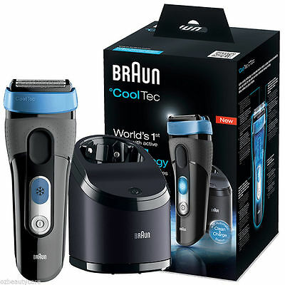 Braun CoolTec CT2cc Men's Cord/Cordless Wet & Dry Self-Cleaning Electric Shaver
