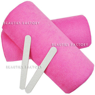 2X Manicure Care Salon Half Hand Cushion Rest Pillow Nail Art Design Soft #287C