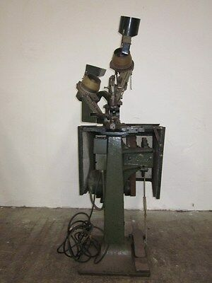 Scovill tack and burr machine (dual feed electric)