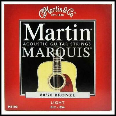 Martin M1100 Marquis 80/20 Bronze Light Acoustic Guitar Strings 12 - 54 New