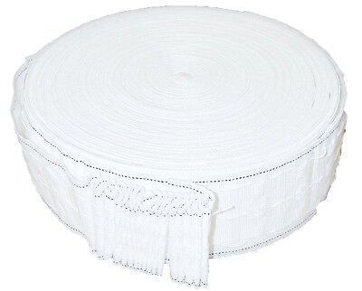 Curtain Heading Tape 3 Inch/75Mm Wide, White, Available In Different Lengths