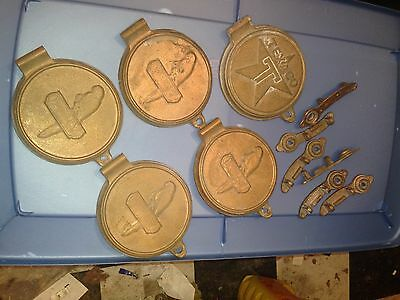 Brass Reproduction Oil Drum Lids And Bracket