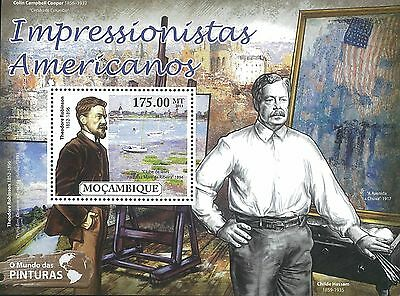 Mozambique 2011 Stamp, MOZ11529B American Impressionists,Famous People, S/S