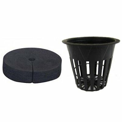 """Net Pots 2"""" & Neoprene Soft Inserts for Clone 25 pack - root guard 2 inch"""