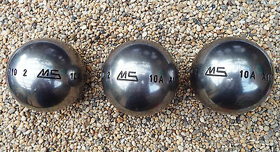 Set of New Stainless Steel LSX MS Petanque Boules Diameter 72 Weight 710