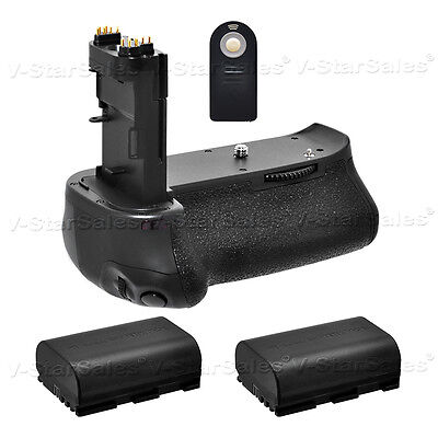 Battery Grip for Canon EOS 70D BG-E14 + 2x LPE6 Batteries + Remote Control