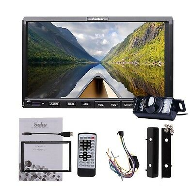 """7"""" Touch Screen In-Dash double 2DIN DVD/MP3 Car Player Receiver USB Aux+ camera"""
