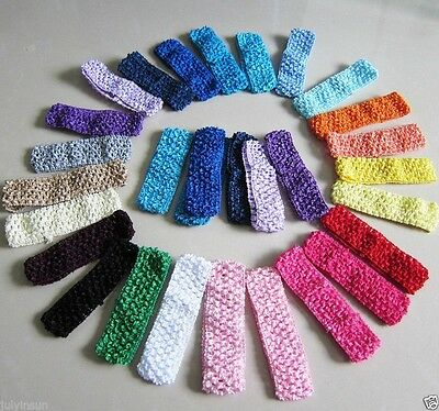 1.5Crochet Cloth Headbands for Baby Girls Toddlers Adults Flower Bow Clips 20PCS