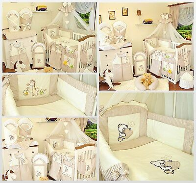 Huge bedding sets / 21 Piece Baby Nursery Bedding Set To Fit Cot / Cot Bed