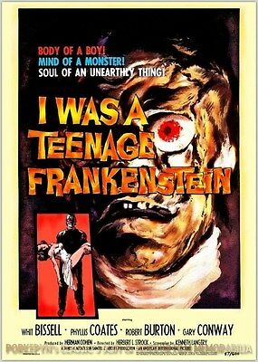 I Was A Teenage Frankenstein ~ 11x14 Classic 50s Poster #1