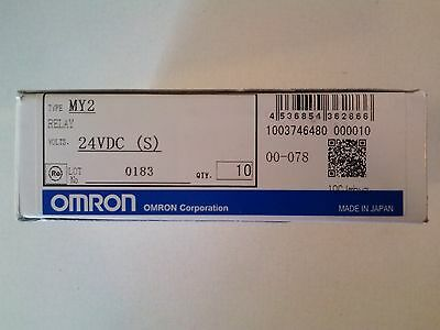 Brand New Omron MY2 24-VDC (S) Relay Box of 10 w/o LED Indicator