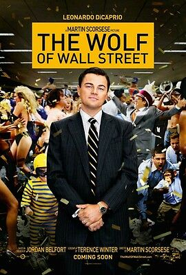 The Wolf Of Wall Street DOUBLE SIDED ORIGINAL MOVIE POSTER Leonardo DiCaprio