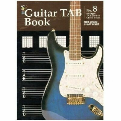Guitar Tab Book 48 Pages Inc Free Chord Chart A Must for all Guitarists