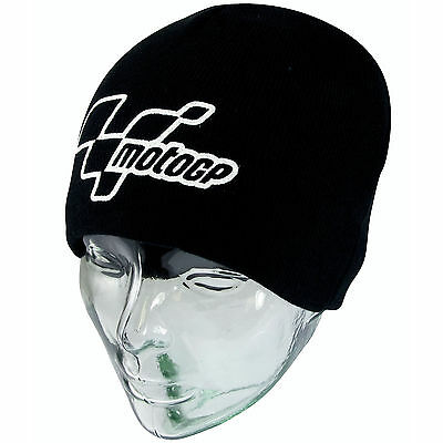 Official MotoGP Motorcycle Black Beanie Warm Hat Cap Moto GP Logo Edition
