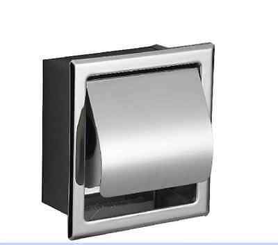 Free Shipping Chrome Bath Stainless Steel Toilet Paper Holder Roll Tissue Box