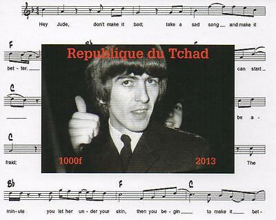 The Beatles George Harrison Miniature Mint Imperforated Stamp Sheetlet 2013