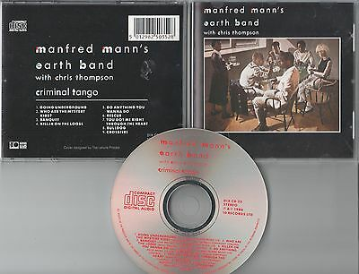 Manfred Mann's Earth Band CD CRIMINAL TANGO (c) 1986