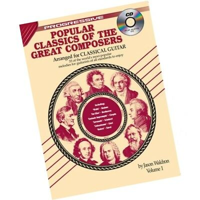 Progressive Popular Classics of the Great Composers Volume 1 with CD for Guitar