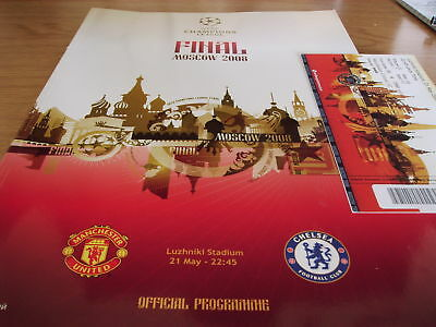 Chelsea V Man United 2008 Champions League Prog/ticket.