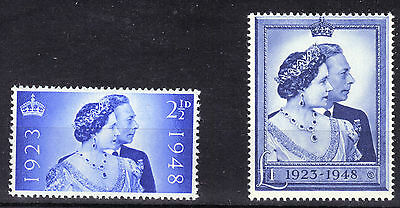1948 GB Geo VI SILVER WEDDING Stamps Set 2v Unmount Mint MNH SG493-494 Re:AA207