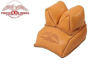 Protektor Heavy Duty Leather Bench Rest Front Rifle Bag Shooting Hunting Target