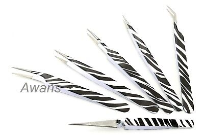 Professional Eyelash Extension Tweezers X Type Pointed Straight Curved Tweezers