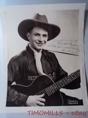 C.1939 Lonesome Cowboy Pete Taylor Signed WPEN Radio Photo Hillbilly Music ORIG.