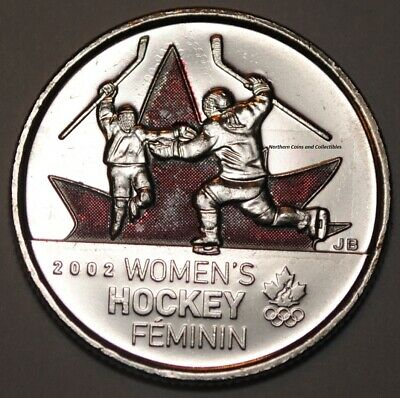 Canada 2009 25 cents Women's Hockey Coloured UNC -  BU Canadian Quarter