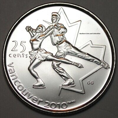 Canada 2008 25 cents Figure Skating UNC -  BU Canadian Olympic Quarter