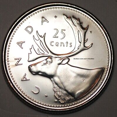 Canada 2002 P 25 cents Nice UNC from roll - BU Canadian Caribou Quarter