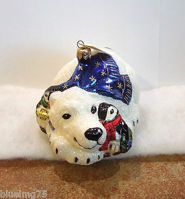 Slavic Treasures Ornament Polar Pals NIB Penguins Polar Bear Christmas (S5)