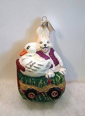 Slavic Treasures Ornament Spring Parade NIB Rabbit Bunny Duck Easter (S5)