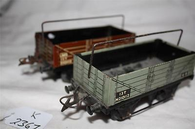 Hornby O Gauge  X  2    Sheet Wagons   [K2367]