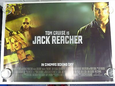 Jack Reacher Tom Cruise Thriller Original Film / Movie Poster Quad 76x102cm