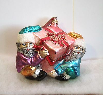 Slavic Treasures Ornament Four Hands Required Elves Present Christmas NIB (S5)
