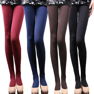 Women's Winter Thick Warm Leggings Slim Stretch Footed Pants Pantyhos Y01