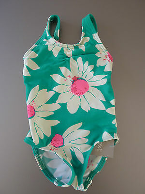 NEXT Gorgeous Little Turquoise Flower Swimsuit NWT