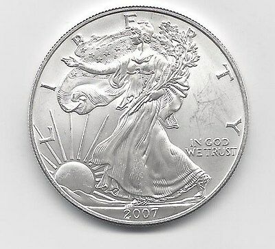 2007 - 1 oz American Silver Eagle Coin - One Troy oz .999 Bullion