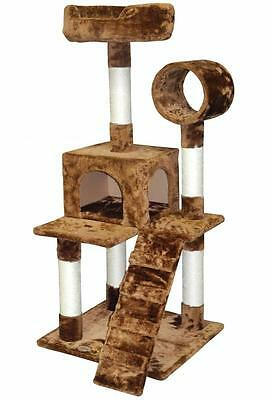 """50"""" Cat Tree House Toy Bed Scratcher Post Furniture F76"""
