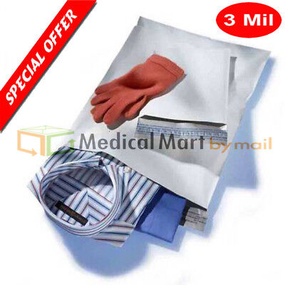 "100 7""x10"" Poly Bags Mailers Envelopes Shipping Plastic Bag Self Seal 3 mil"