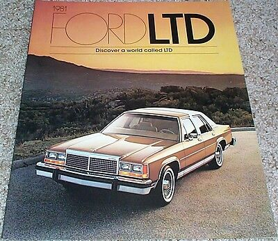 1981 Ford LTD Sales Brochure - Mint!